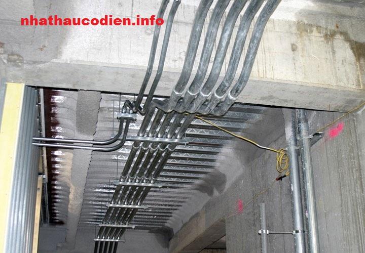 hệ thống ống thép luồn dây điện