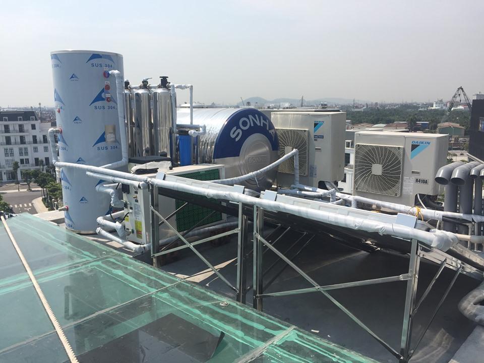 Hệ thống nước nóng trung tâm heat pump