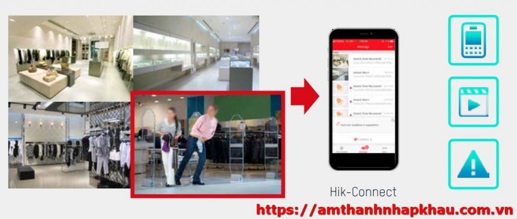 camera ip hikvision sử dụng app mobile để quan sát