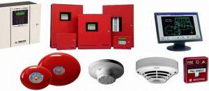 các thiết bị của một hệ thống báo cháy